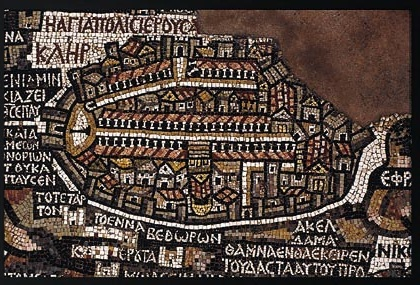 A Map of 6th Century Jerusalem